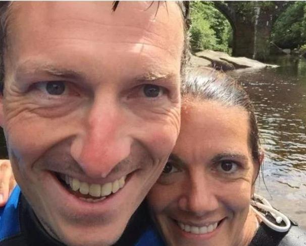 Clare O'reilly y su esposo. Foto: web