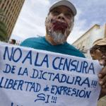 Protesta en Nicaragua por la censura. La Prensa
