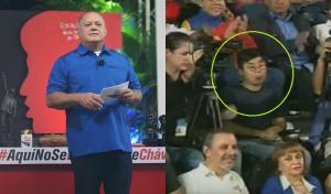 ¡Le sacaron la lengua a Diosdado Cabello en pleno programa!