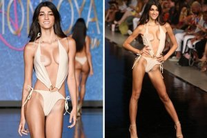 A esta supermodelo se le salió una LOLA en pleno desfile y siguió caminando como si nada (FOTOS)