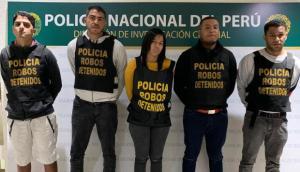 """Detenidos cinco venezolanos en Perú integrantes de la banda """"Los malditos de los Rolex"""""""