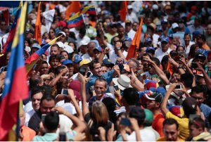 El apoyo masivo a Juan Guaidó en Guárico retumbó por toda Venezuela (FOTOS)