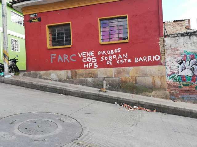 Casa con mensajes de odio en contra de venezolanos, Colombia.