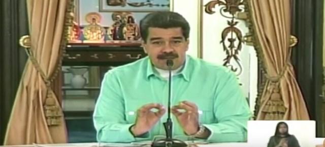 Nicolás Maduro, captura de pantalla.