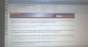 """PDVSA ordena """"austeridad"""" a trabajadores que ya sufren malas condiciones laborales"""