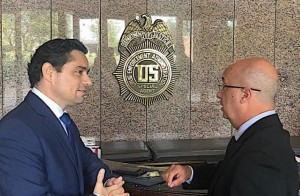 Embajador Carlos Vecchio e Iván Simonovis se reunieron con la DEA para afinar estrategias y combatir el narcotráfico en Venezuela