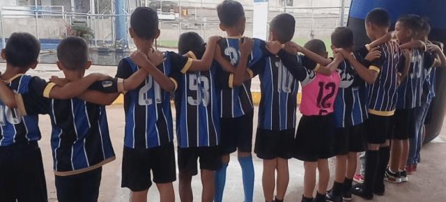 Foto referencial. Niños pertenecientes a la filial del equipo Mineros de Guayana.