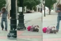 """Vecinos alertaron al 911 por un hombre arrastrando a una """"mujer"""" por la calle: Lo que encontró la policía fue inesperado"""