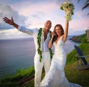 En secreto: El actor Dwayne Johnson se casó con su pareja en Hawái