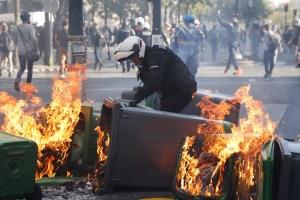 Incidentes y arrestos en París en el curso de varias manifestaciones
