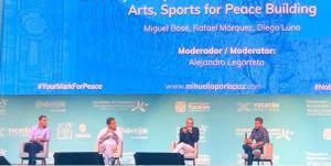 Miguel Bosé, Rafa Márquez y Diego Luna pidieron apoyo para construir la paz mundial