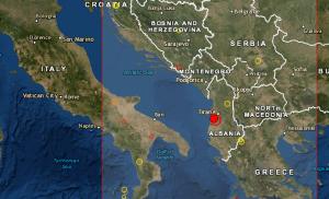 Se registró fuerte sismo de magnitud 5,6 en Albania #21Sep