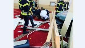 Un hombre estrelló su vehículo contra una mezquita en Francia sin causar víctimas (VIDEO)