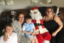 ¡EMOTIVO! Celebró Navidad adelantada con sus hijos porque le quedan dos semanas de vida