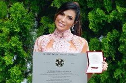 ¡Orgullo venezolano! Caterina Valentino recibe máximo galardón por parte del gobierno de Italia
