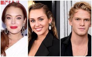 Lindsay Lohan condenó la relación de Cody Simpson con Miley Cyrus
