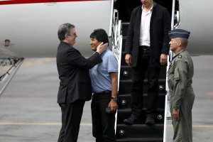 EN FOTOS: Así fue la llegada de Evo Morales a México
