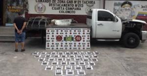 Funcionarios de la GNB incautaron 40 envoltorios de cocaína en Táchira