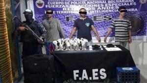Detienen en Táchira a tres delincuentes con explosivos y prendas militares