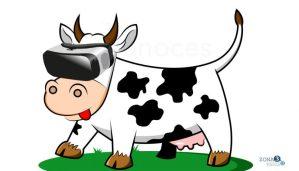 ¿Vacas entretenidas con realidad virtual?