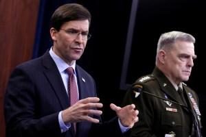 Secretario de Defensa de EEUU afirmó que están listos para apoyar cualquier acción en Venezuela