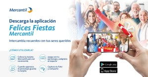 Mercantil lanzó su aplicación Felices Fiestas para fotografías con realidad aumentada