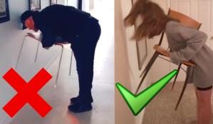 El Reto de la Silla: Estalla un nuevo desafío viral que sólo las mujeres logran descifrar (video)