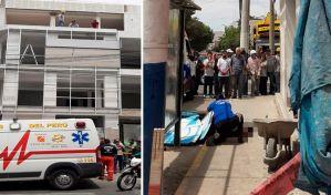 Obrero venezolano fallece tras caer del tercer piso de edificio en construcción en Perú
