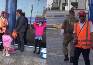 Bastó un gesto para hacer la diferencia: Ayuda de un policía brasileño a un venezolano se volvió viral