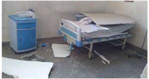 Cayó sobre una camilla el techo de un hospital universitario en Portuguesa (Foto)