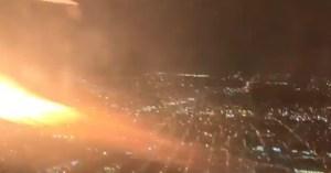 Avión en llamas aterrizó de emergencia en EEUU (video)
