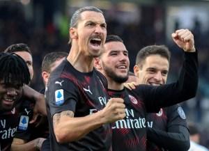 El primer gol de Ibrahimovic y la victoria del Milan