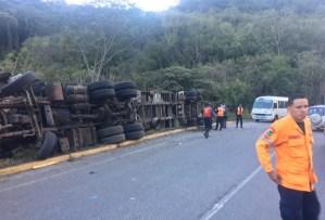 Gandola se volcó en una curva de Parque Caiza tras perder los frenos (Fotos)