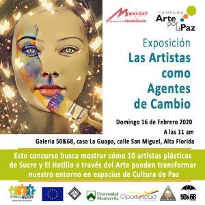 Mujer y Ciudadanía invita a la Inauguración de la exposición y concurso campaña arte por la paz.