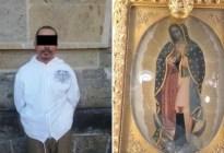La virgen no le concedió un milagro y así reaccionó este hombre en Guadalajara (Foto y Video)