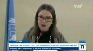 Viceministra colombiana instó a la ONU a hacer frente a la violación de DDHH en Venezuela (VIDEO)