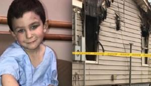 Mientras se incendiaba su casa niño héroe sacó a su hermana por la ventana y regresó por su perro