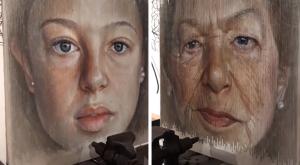 El IMPRESIONANTE retrato que muestra el tránsito de la juventud a la vejez en un parpadeo (VIDEO)
