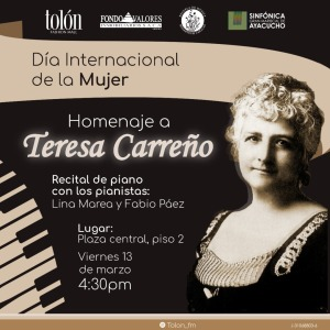 Tolón Fashion Mall rendirá homenaje a la venezolana Teresa Carreño