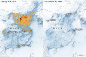 Nasa revela una caída en la contaminación en China por el coronavirus