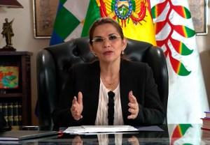 Áñez felicitó a Arce por su triunfo electoral en Bolivia