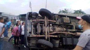 Se volcó camión cava en Barquisimeto #30May (Fotos)