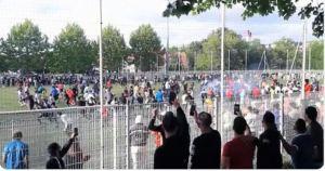 ¡Escándalo! Más de 400 personas rompieron la cuarentena para jugar fútbol en Francia (Video)