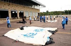 Colombia instaló un campamento transitorio para venezolanos atrapados en Cúcuta