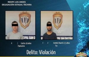 Detienen a padrastro, tío y un vecino por abuso a niña de once años en Táchira