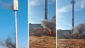 Los ataques a las torres de 5G llegan a Bolivia (FOTOS)