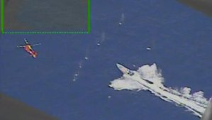 ¡De película! Así fue como un helicóptero de la Guardia Costera de EEUU detuvo a traficantes en el mar (VIDEO)