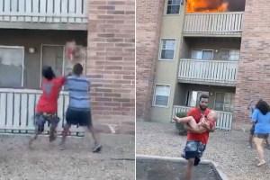 Arrojaron a un niño de tres años desde un balcón en llamas en Phoenix