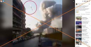 Son montajes los engañosos videos de supuesto misil que provoca explosiones en Beirut