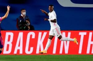 El Real Madrid superó al Valladolid impulsado por Vinicius